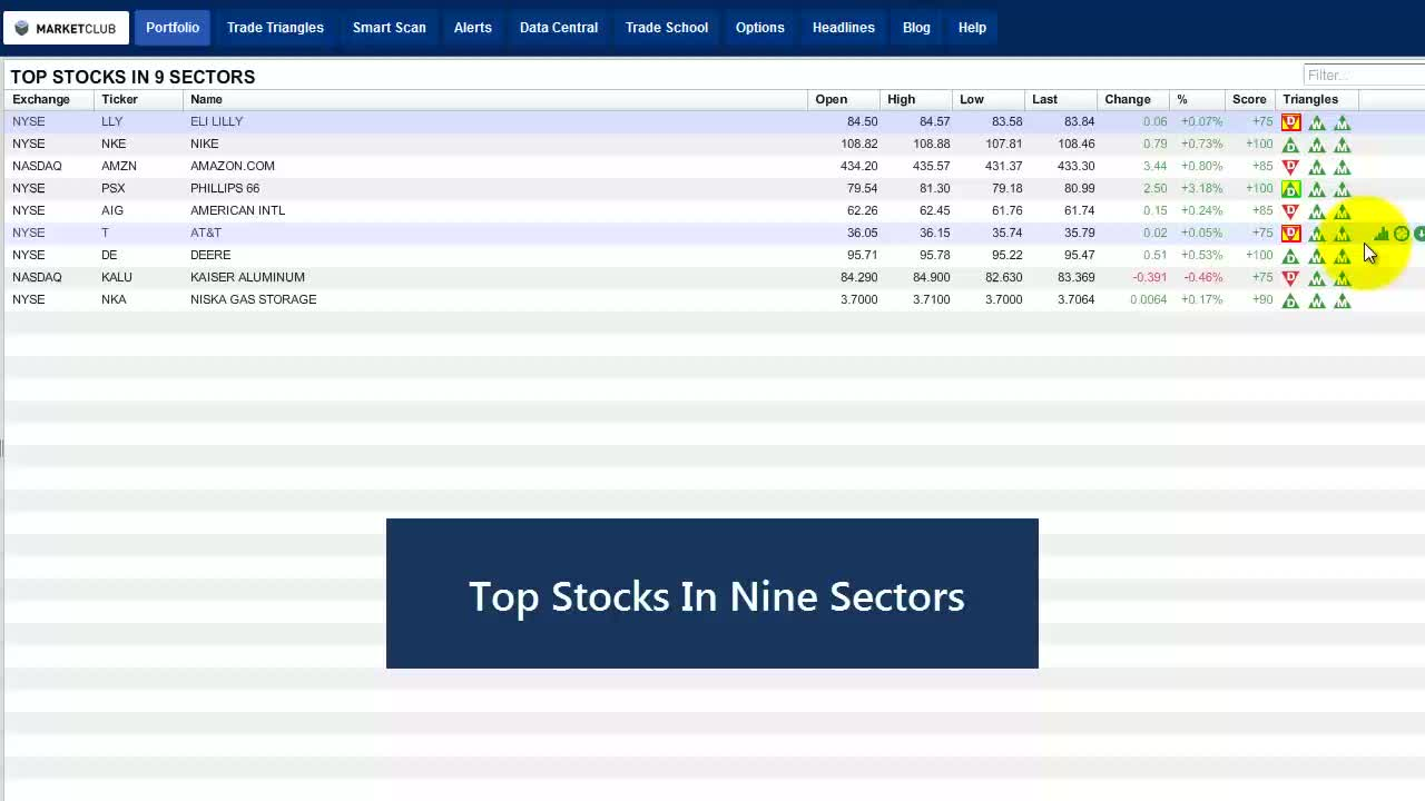 Nine Sector Stocks You Won't Want To Miss.